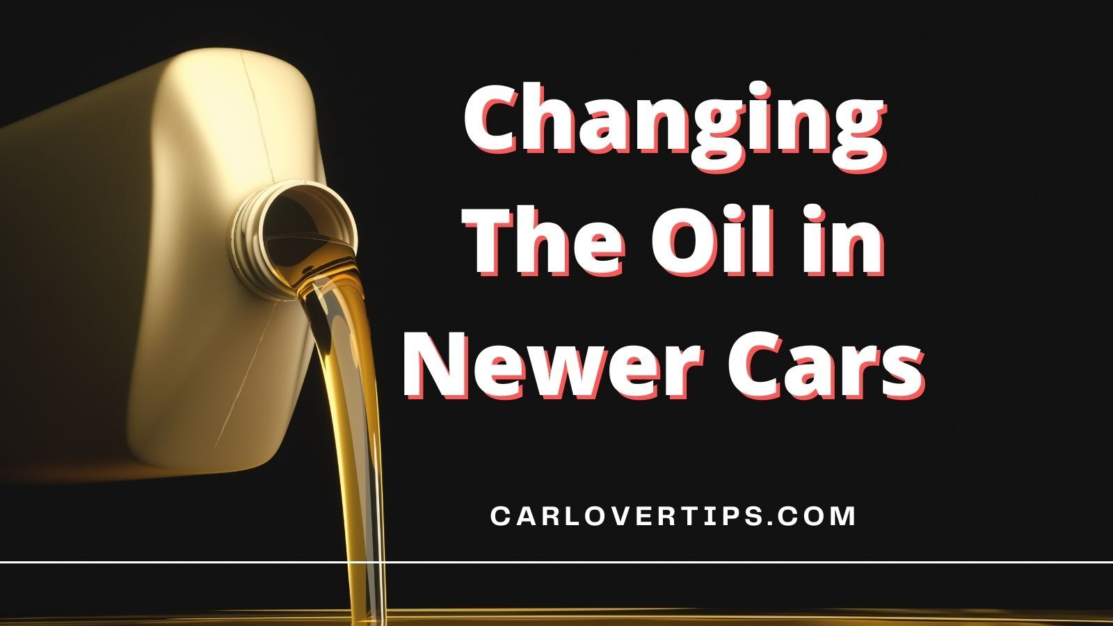 Changing The Oil in Newer Cars
