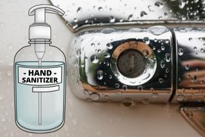 De-ice Keyholes With Hand Sanitizer