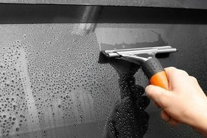 Use Squeegee To Remove Morning Dew